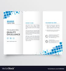 2 Folded Brochure Template Clean Tri Fold Brochure Template Design With Blue
