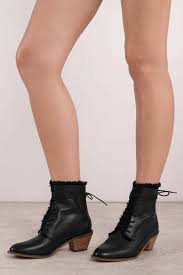 booties black kingsdale fur lined leather boots
