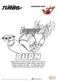 Small Picture Burn from Turbo coloring page Free Printable Coloring Pages