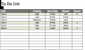 Priority List Templates Free To Do List Templates In Excel