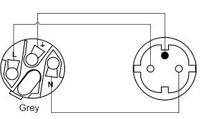 cab448 f grey powercon to schuko power female french type wiring diagram cab448 f grey powercon to schuko power female french type connector