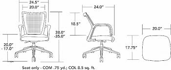 standard office chair dimensions beautiful run guest conference mesh back um seat 941 via