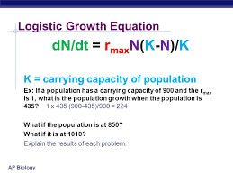 ap biology k carrying capacity logistic rate of growth can populations continue to grow