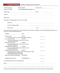 Wedding Photography Contract Form Simple Template Free Pdf Sample ...