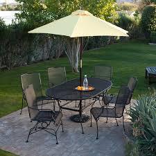 wrought iron outdoor furniture.  Outdoor Antique Wrought Iron Patio Furniture With Umbrella Throughout Outdoor O