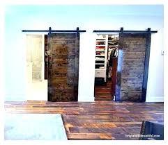 sliding barnwood door closet barn doors hall traditional wood hardware track system set