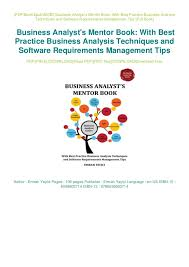 Business Analysis Software Free Download Business Analysts Mentor Book With Best Practice Business