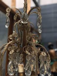 antique italian chandelier with pearls and crystal chandeliers lighting european antique warehouse