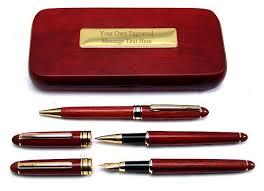 3 rosewood pen box set ballpoint pencil founn pen personalised 629 p jpg