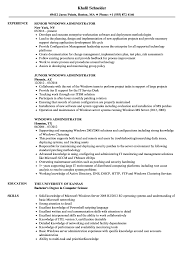 Windows Administrator Resume Samples Velvet Jobs