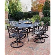 Home Styles Biscayne Bronze 7-Piece Swivel Patio Dining Set-5555 ...