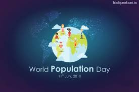 Posters On World Population Day With Slogans Drawing