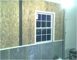 interior garage walls garage wall covering corrugated metal for interior walls the journal board ideas