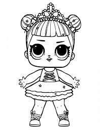 Lol Dolls Coloring Pages Lovely Lol Surprise Doll Coloring Pages