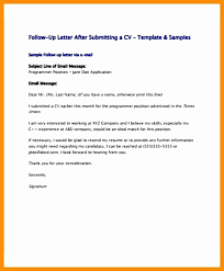 Sample Follow Up Letter After Submitting Resume Elegant Resume