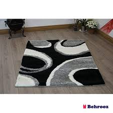 living room extra large large very soft hand carved circled geometrical design gy rugs in 2 colours black grey