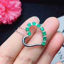 2019 <b>SHILOVEM 925 Sterling</b> Silver <b>Real</b> Natural Emerald ...
