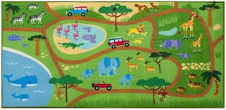jungle safari kids play rug