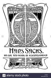 art nouveau hans sachs book cover ilration by glasgow ilrator and designer christopher dean line ilration from 1897