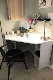 white corner makeup vanity. corner table vanity the borgsjÖ desk tucks neatly in a corner, with enough top space and storage to make morning prep easy! white makeup m