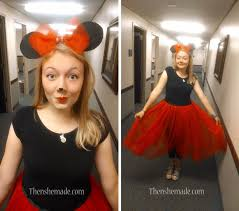 miss m as minnie mouse black t shirt with red tulle skirt i can t really take credit for this as she made her own costume but i helped a little