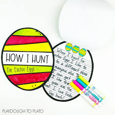 • the easter bunny slept in! Easter Egg Writing Craftivity Playdough To Plato