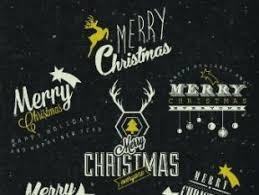 Merry Christmas Logo Free Vectors Ui Download