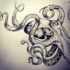 Small Picture 77 best Tattoo images on Pinterest Octopus tattoos Octopuses