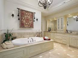 traditional master bathrooms. Traditional Master Bathroom With Soaking Tub And Hanging Tapestry Bathrooms