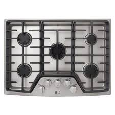 30 gas cooktop. LSCG307ST LG STUDIO 30 Inch Gas Cooktop - Stainless Steel G