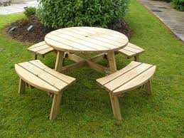 full size of office elegant round picnic table plans 16 wood free round top picnic table