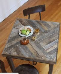 diy pallet outdoor dinning table. reclaimed pallet and barn wood pub bistro kitchen end table would love this design for the dinning room too diy outdoor