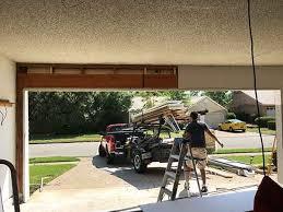 clean up garage new double garage door