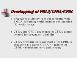 Fmla Cfra Pdl Chart Leave Laws Disability Discrimination Ppt Download
