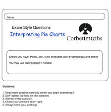 Reading Pie Charts Practice Questions Corbettmaths