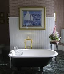 ... Astounding Bathroom Decoration Design With Painted Clawfoot Tub :  Appealing Ideas For Bathroom Decoration Using Gold ...