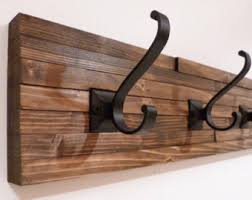 Black Wall Coat Rack Wall coat rack Etsy 14