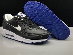 uni nike air max 90 leather black white blue womens