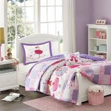 full queen 4pc girls ballerina bedding set pink purple