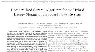 Decentralized Control Algorithm For The Hybrid Energy Storage Of