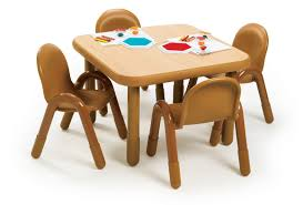 Angeles BaseLine Preschool Table Chairs Set 30 Square