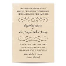 parchment wedding invitation