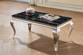 aubert black marble coffee table with