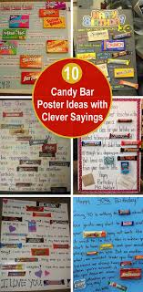 Candy Bar Poster Ideas With Clever Sayings