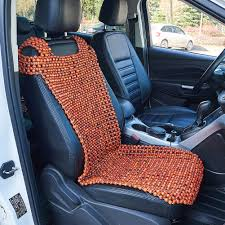 1x natural wooden beaded car taxi front seat cover bead cushion pad massage au