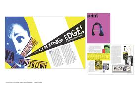Design Movements Product Design Magazine Layout For The Postmodern Graphic Design Movement