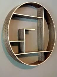 round wall shelf wood
