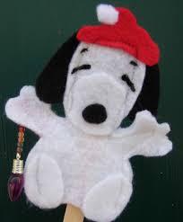 diy snoopy felt finger puppet