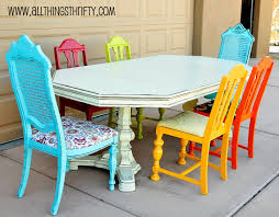 multi colored dining table incredible decoration colored dining table so e mail me at allthingsthrifty at gmail dot com