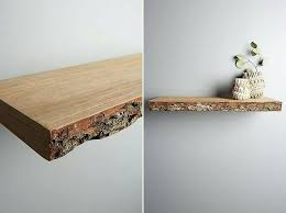 live edge wood floating shelf how to hang shelves installing 9